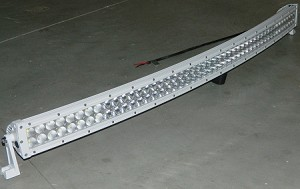 "50"" INCH WHITE CURVED LED LIGHT BAR COMBO SPOT/FLOOD WORK/OFFROAD BAR"